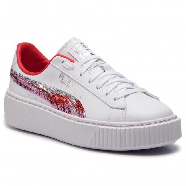 Femme Spring 2019 Platfrm hibiscus Basket 369045 Basses summer 02 Chaussures Trailblazer White Puma Sqn Jr q1 Sneakers CoedxBWr