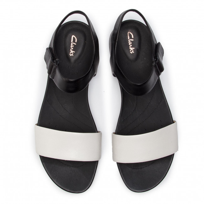 Clarks 261412584 White Leather Sandales Pacey Bright QCdxoWrBe