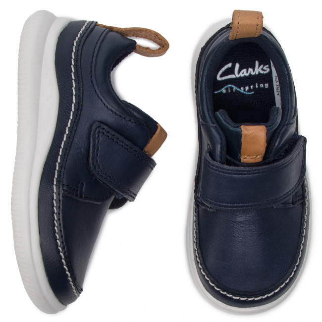 Enfant Scratch Gar Spring Cloud on Clarks T 2019 Ember Fermeture Navy Basses summer 261405046 Chaussures Leather Fc1lK3TJ