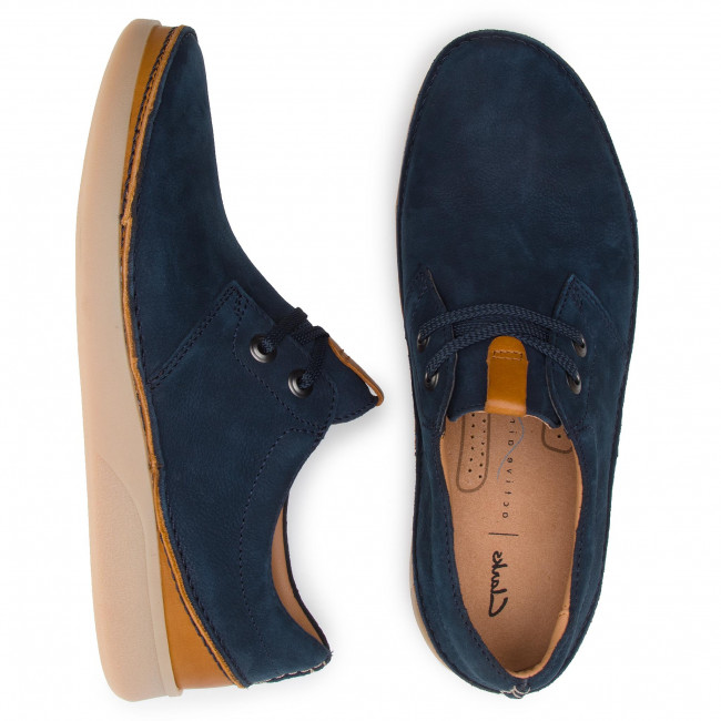 Basses Navy Nubuck Oakland Lace Clarks 261390417 Chaussures yvwm8NOn0