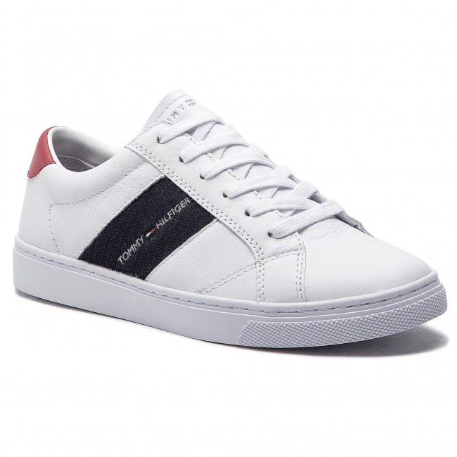 05f509eaffa92 Sneakers TOMMY HILFIGER - Tommy Playful Badge Sneaker FW0FW03996 White 100