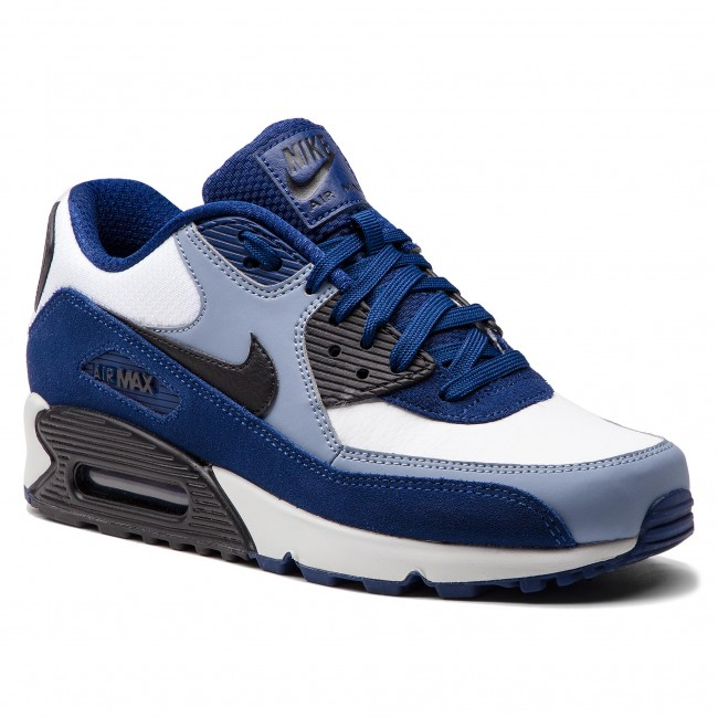 outlet store 85aad ae6e6 Chaussures NIKE - Air Max 90 Leather 302519 400 Blue Void Black Ashen Slate