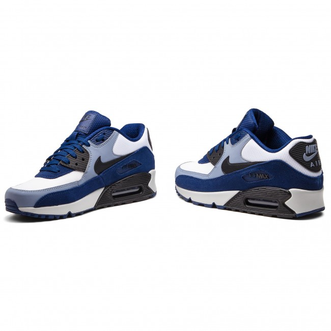 Chaussures NIKE Air Max 90 Leather 302519 400 Blue VoidBlackAshen Slate