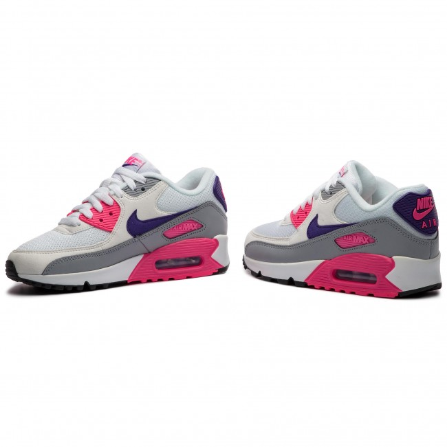 the latest 7555c 7b2ff Chaussures NIKE - Air Max 90 325213 136 White Court Purple Wolf Grey
