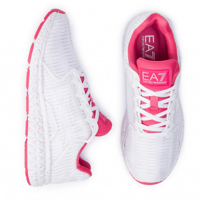 2019 White Emporio X8x032 Chaussures Femme summer Spring Ea7 Armani red Sneakers Basses Xk055 A041 nw0Nm8