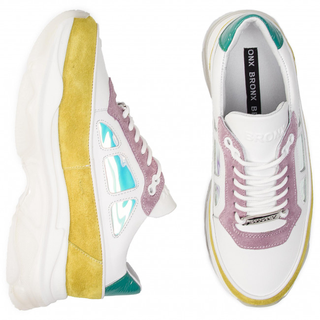 Sneakers BRONX - 66244-AC BX 1525 Lime/White/Lilac 3002 - Sneakers - Chaussures basses - Femme