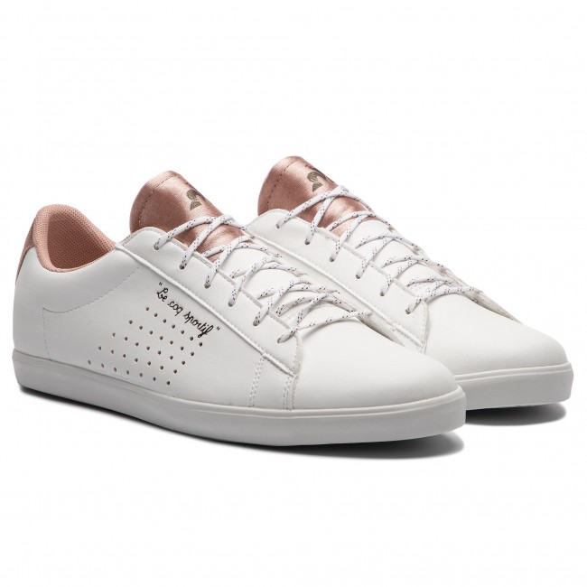 bd8d61ddc75b Sneakers LE COQ SPORTIF - Agate Sport 1820152 Optical White/Dusty Coral -  Sneakers - Chaussures basses - Femme - chaussures.fr