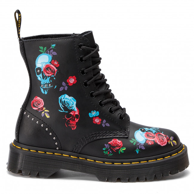 24424001 Black Bex Pascal multi Chaussures 1460 Rangers DrMartens Rose CthrQdsx