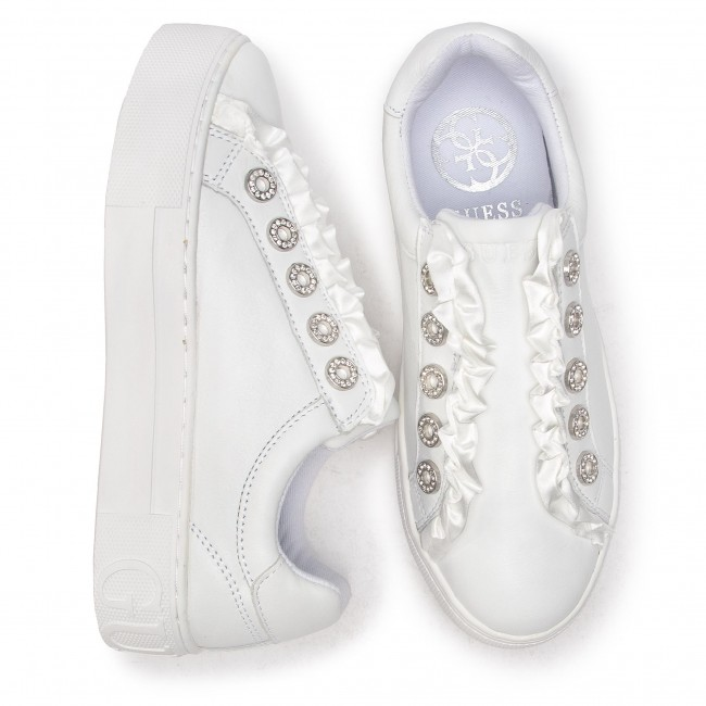 Sneakers GUESS FL5MZR - FL5MZR GUESS LEA12 WHITE - Sneakers - Chaussures basses - Femme 1cf63f