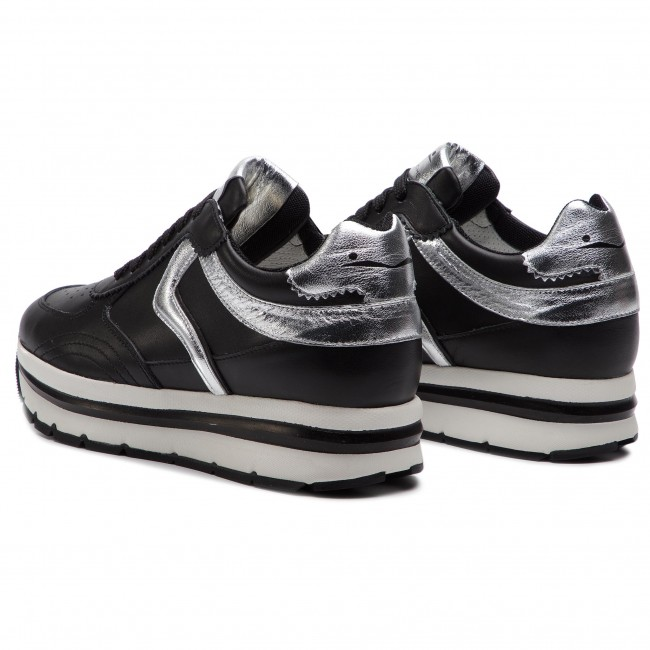 summer 0012013609 02 Nero Sneakers Femme Spring 2019 Marica Blanche 1a02 Voile Basses argento Chaussures vfb7IY6gy