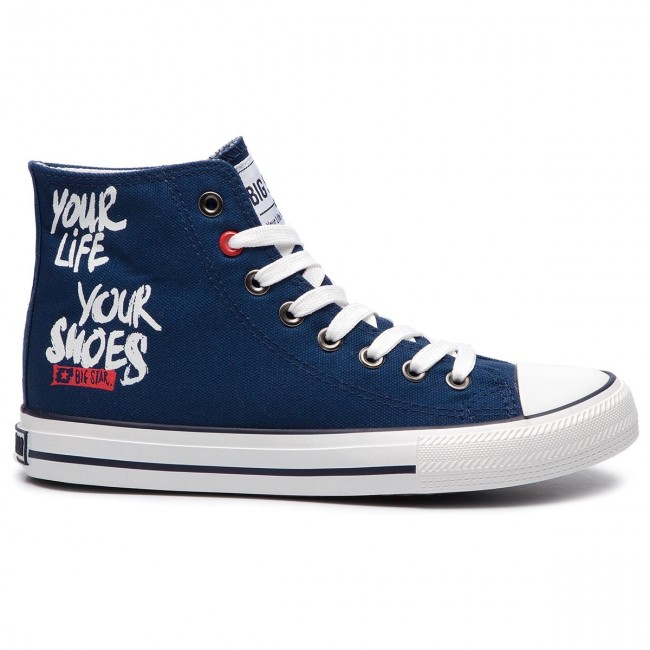 Site Officiel Chaussures femme Sneakers BIG STAR - DD274066 Navy - Baskets - Chaussures basses - Femme iM2MG