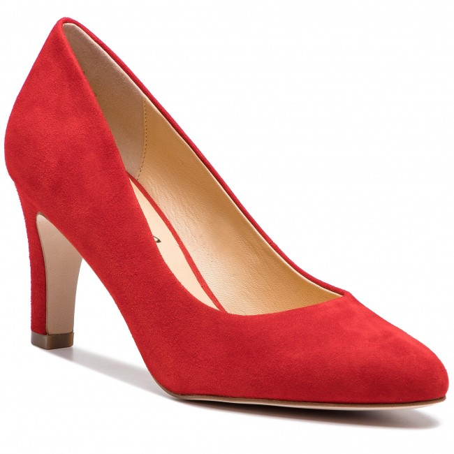 Chaussures Basses 2019 Femme Spring 22400 524 summer Suede Red Talons Caprice 22 9 Pk80nOw