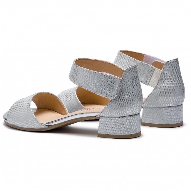 945 Struct Decontractees 22 Et Silver Femme 2019 summer 9 28212 Sandales Spring Caprice Mules 08OvNmnw