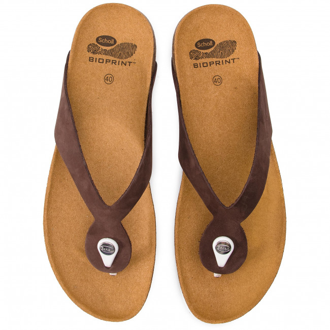 Kenna 1019 Brown Dk Tongs 400 Scholl F27397 ScLq3Aj4R5