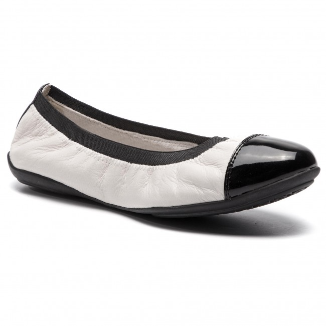 Chaussures C1351 2018 Ballerines Spring D Charlene White D62y7a A black Off Basses Femme summer Geox 0tchh b76gyvYf