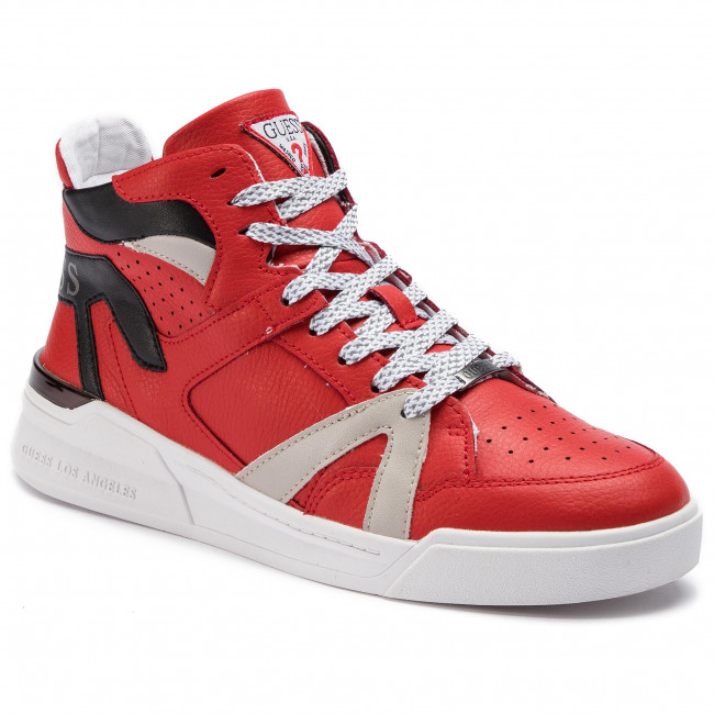 Madison Sneakers Red Lea12 Guess Fm6mad rshdoQCxtB