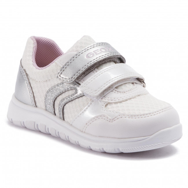Geox S 2019 B921ca Sneakers Spring B Xunday GA silver Enfant White Fermeture 014aj C0007 Chaussures Fille summer Basses Scratch WED2IY9eH