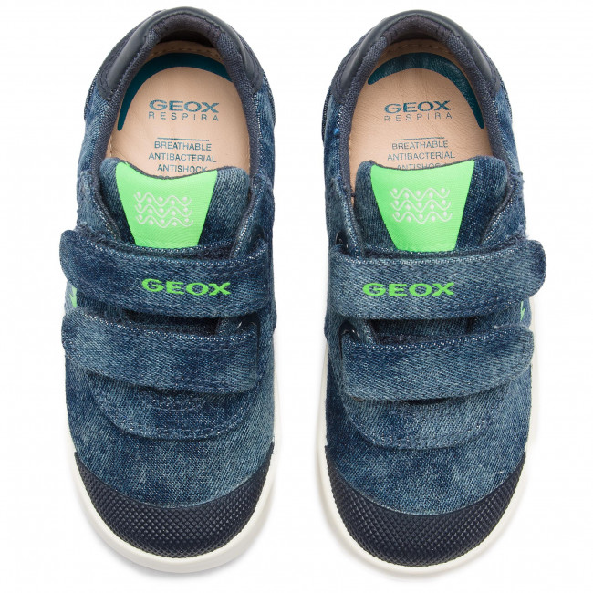 Fermeture Basses Chaussures on S Blue fluo Spring Geox 01354