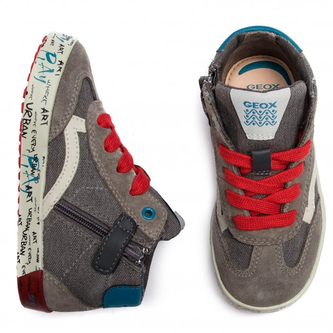 Chaussures Gar Geox Sneakers dk B on Spring Kilwi S Red 2019 Grey C1102 e B92a7e 01022 B Zippees Enfant summer Basses bf7gy6