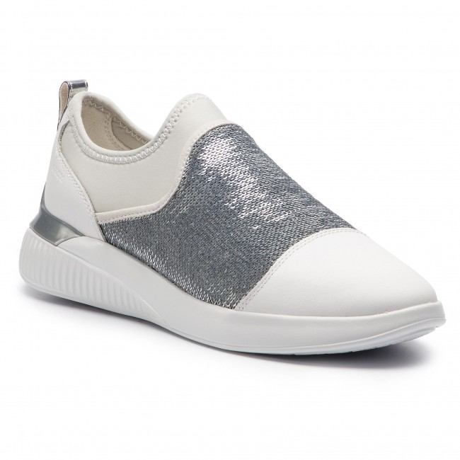 D 085at C0007 White silver Sneakers Theragon A D848sa Geox qSVpGUzLM