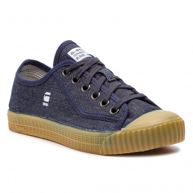 Denim Wmn Basses Pre 2019 Chaussures G Dk Spring 8714 Navy Femme Baskets Sneakers 881 Rovulc star Roel summer Raw D07669 2I9WHEDY
