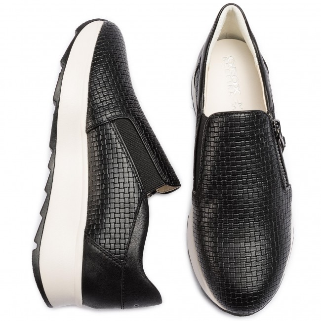 Spring Geox Basses summer D A Chaussures Black Femme Gendry