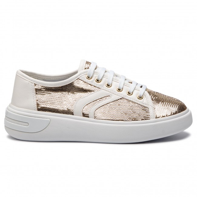 D92bye Sneakers D Basses E C0583 Chaussures Femme Ottaya Gold Spring white Geox summer 2019 0at54 4RA35jL