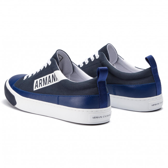 summer Chaussures Armani Homme Spring 00285 Xv097 Navy 2019 Xux041 Sneakers Basses Exchange ED2IH9