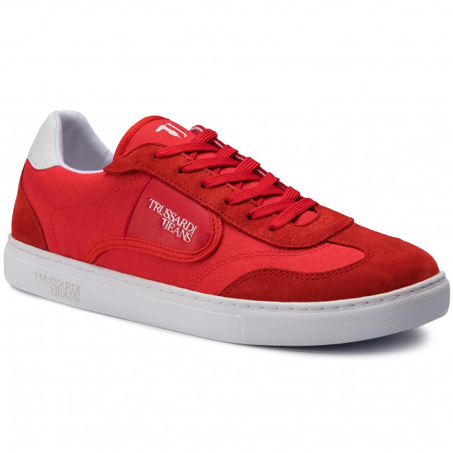 2019 Chaussures Red Trussardi summer Spring Sneakers 77a00144 R150 Jeans Basses Homme vb76Yfgy