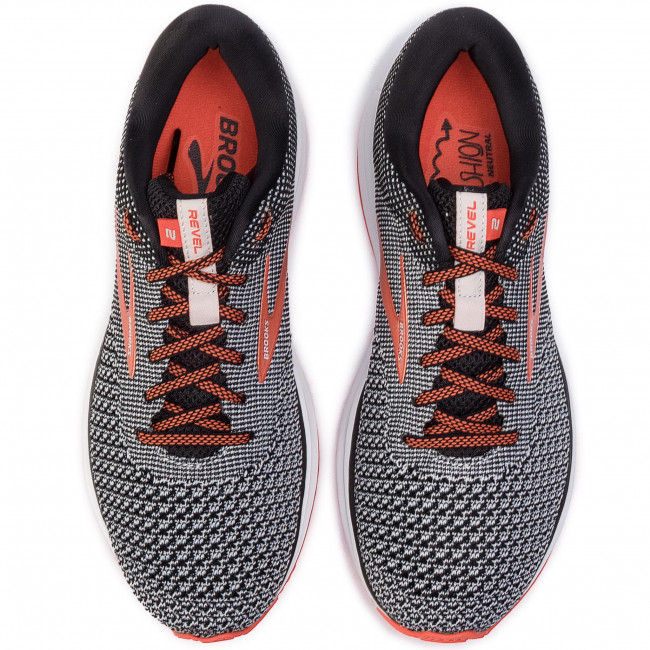 orange Chaussures Brooks light 110292 Black 1d Revel 2 091 Grey OPkiXZuT
