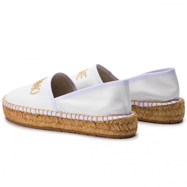 summer Bianco Basses Love 2019 Spring Ja10163g07jb0100 Espadrilles Chaussures Femme Moschino 0kwOnP