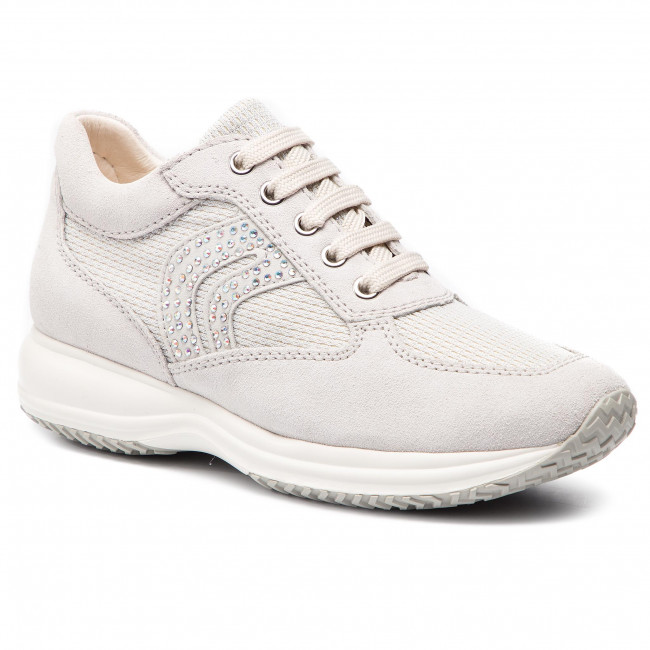 Chaussures 022ly White Happy C summer C0626 Off Spring 2019 silver Basses Sneakers D5462c Geox Femme D roedBCxW