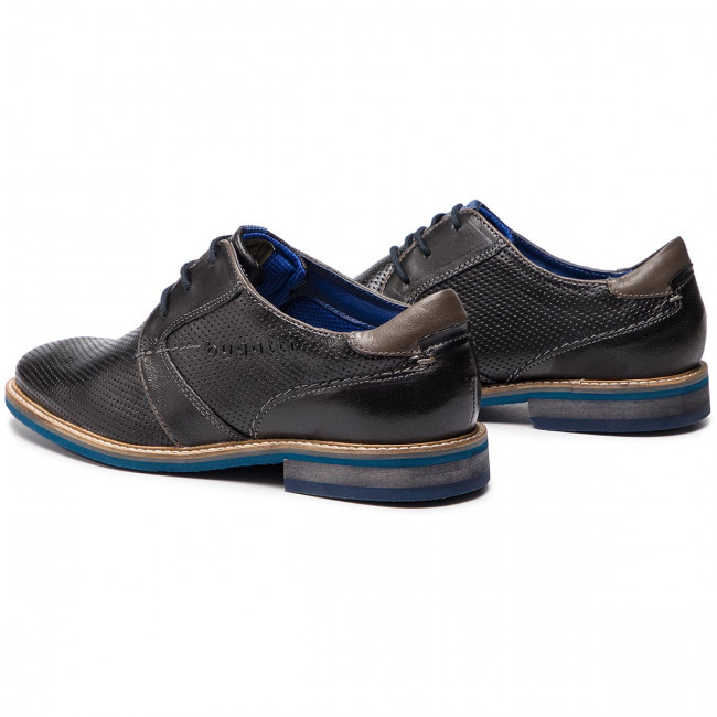Black Bugatti 46103 grey 311 Spring Basses 2019 1015 Chaussures Soiree 4041 Homme summer ON8n0PwkX