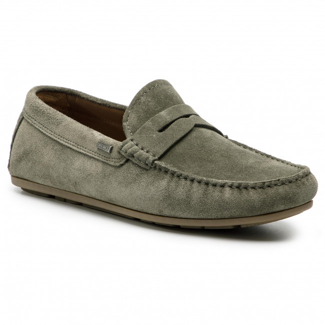 77e4e131215 Mocassins TOMMY HILFIGER - Classic Suede Penny Loafer FM0FM02109 Olive Night  010
