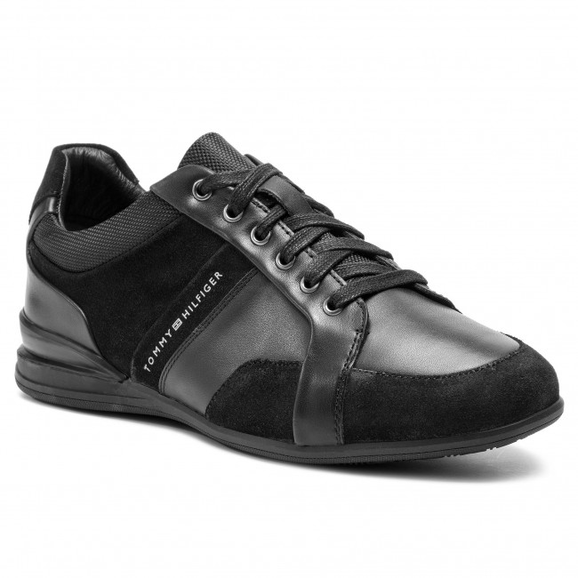 Tommy Core 990 Black Fm0fm02149 Sneakers Dress Shoe Leather Hilfiger b7gvYfy6