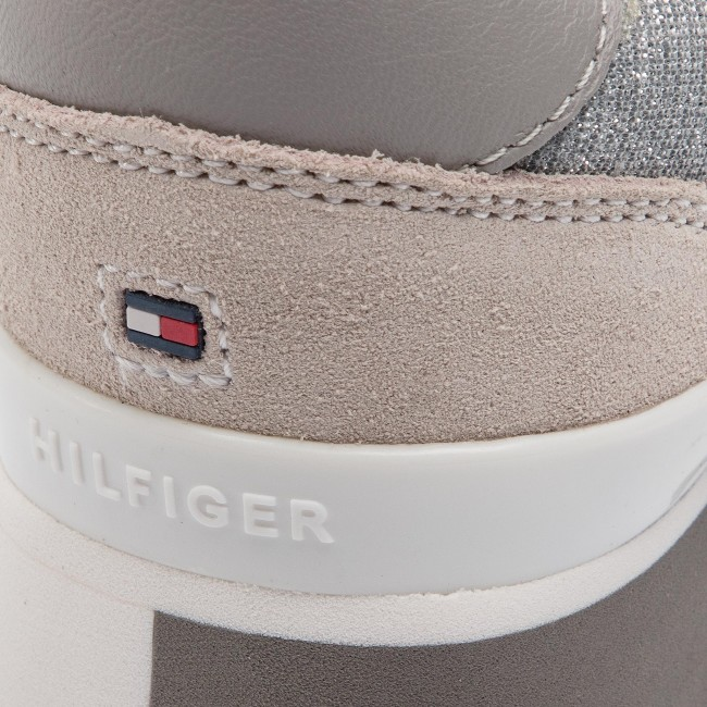 Hilfiger Sneaker 000 Sneakers Glitter City Fw0fw03772 Silver Tommy 6mIyvYbf7g
