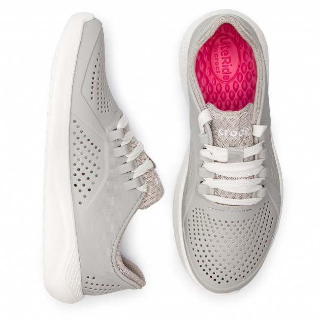 Basses 205234 Crocs Literidepacerw Pearl White Chaussures vn0Oy8PmNw