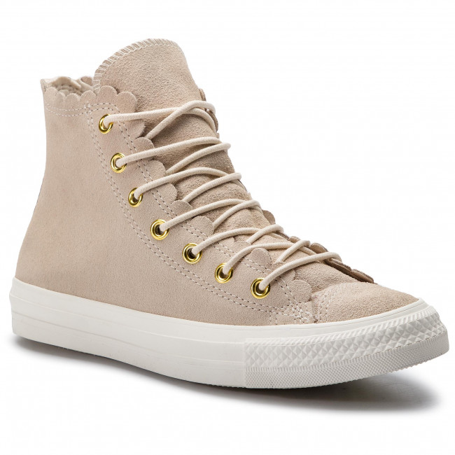 Spring summer 2019 Femme gold Hi Baskets Ctas Tennis egret Converse Natural Ivory Chaussures 563421c Basses q1 2WDHE9IY