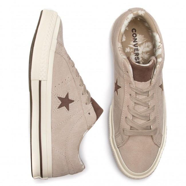 2018 egret Chaussures Ox 160586c Baskets Basses Star Tennis winter One dark Converse Papyrus Femme Fall q4 Chocolate dCBoex