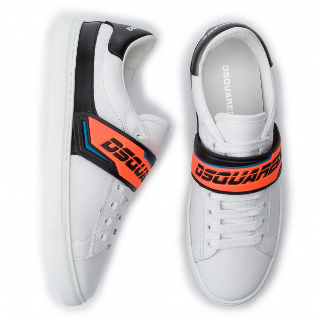 Dsquared2 01500001 M635 Fluo arancio Bianco New Sneakers Tennis Snm0056 lFJT1c3K
