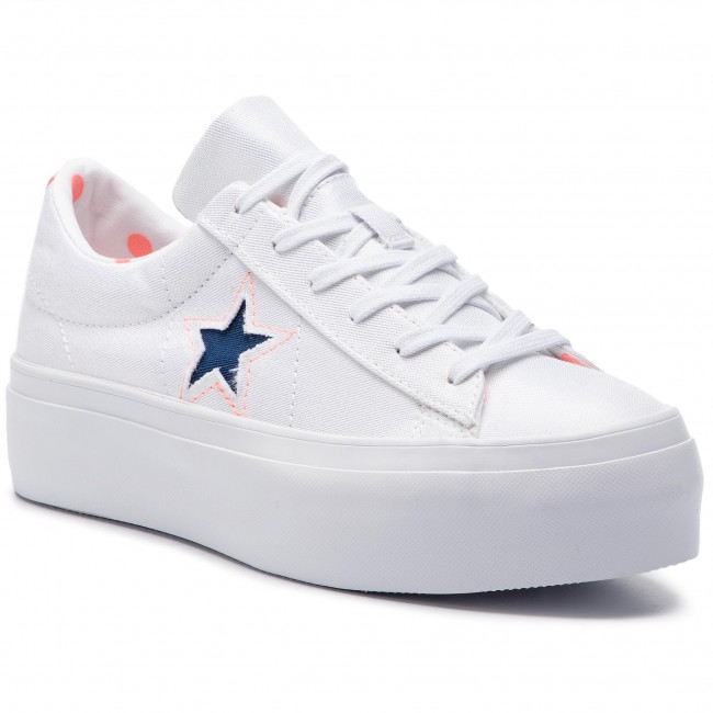 best service 95589 13a72 Tennis CONVERSE - One Star Platform Ox 560700C White Crimson Pulse Navy
