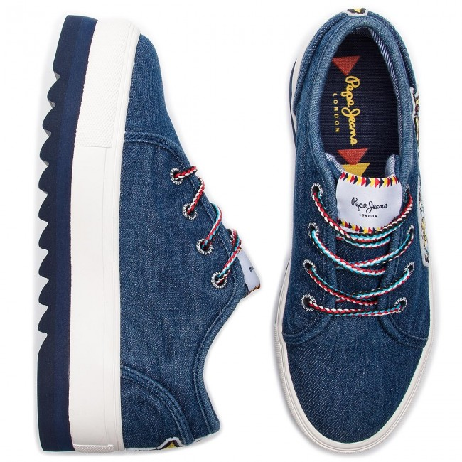 Basses Pls30867 Dk Chaussures Blue Otawa Spring Jeans Sneakers Pepe 2019 summer 581 Femme Curious EI9HD2
