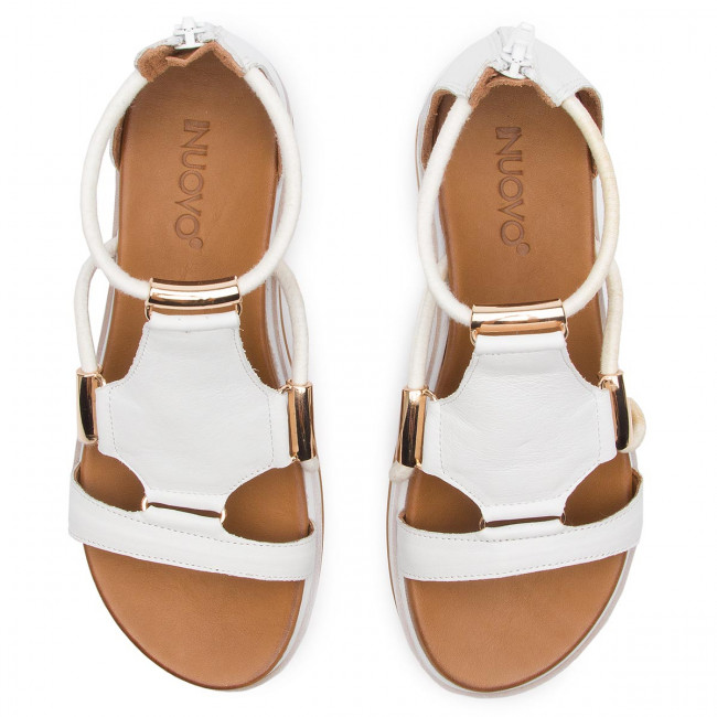 Inuovo White summer Sandales Spring 112030 2019 Mules Et Femme Compensees ZikuPX