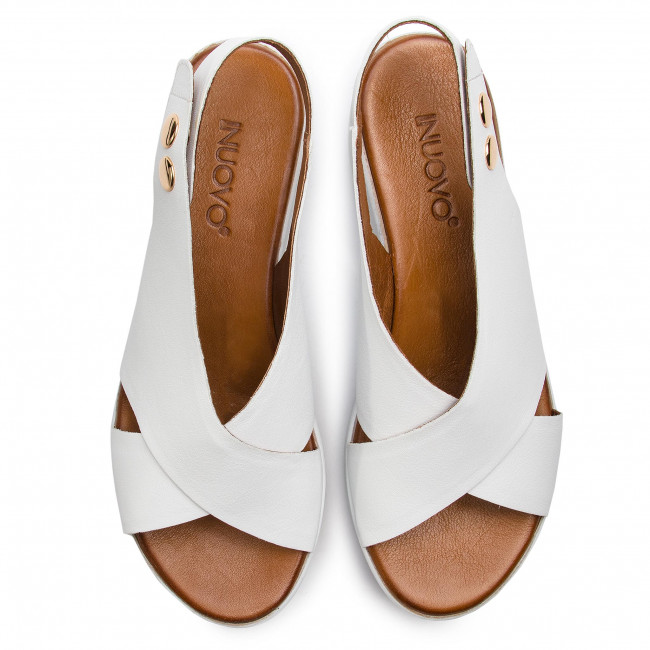 Et Compensees Femme Sandales Inuovo 2019 123007 White Spring summer Mules bYgfv6y7