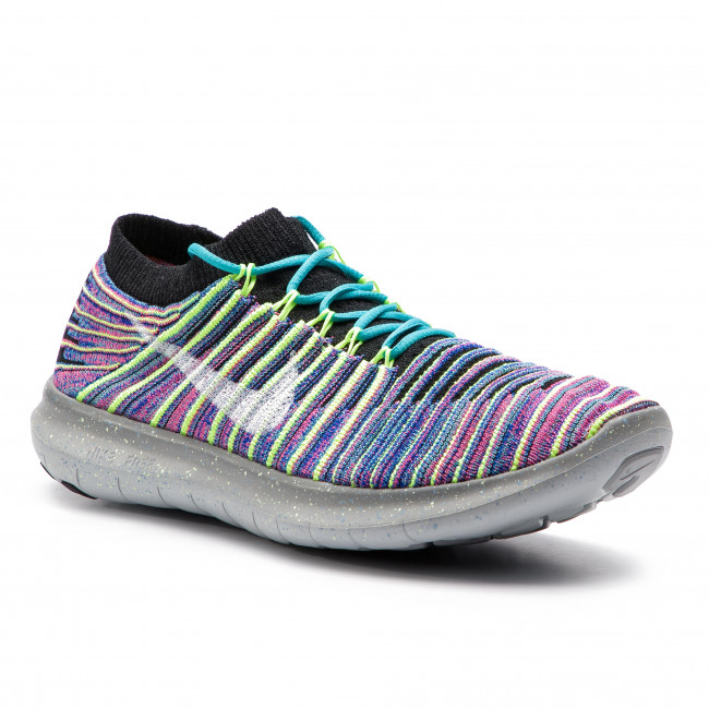 super cute 22528 de4e5 Chaussures NIKE - Free Rn Motion Flyknit 834585 006 Black White Racer Blue