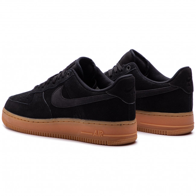 Nike Air Force 1 '07 LV8 Suede Noire Chaussures Baskets