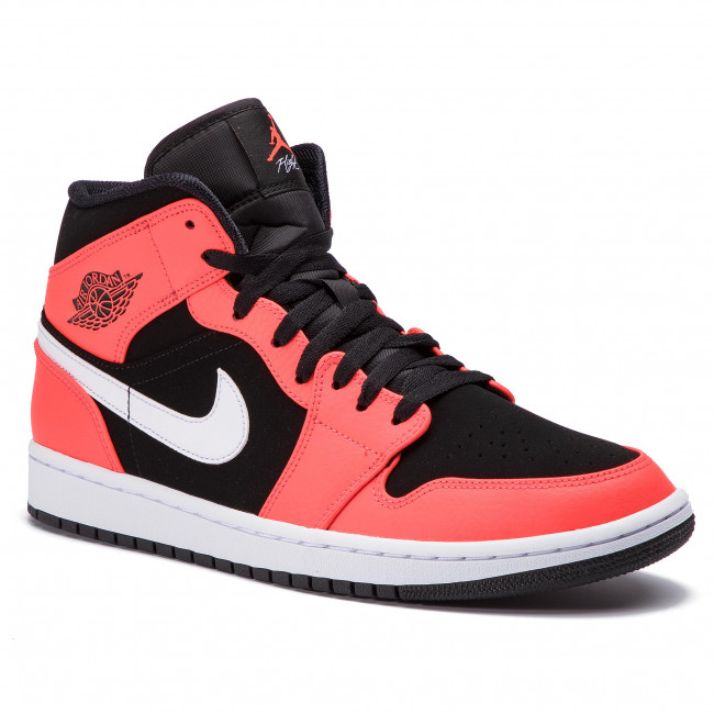 newest defa0 15573 Chaussures NIKE - Air Jordan 1 Mid 554724 061 Black Infrared 23 White