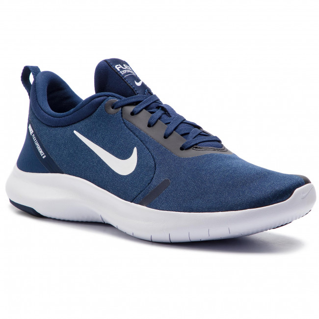 low priced d1422 094ea Chaussures NIKE - Flex Experience Rn 8 AJ5900 401 Midnight Navy/White