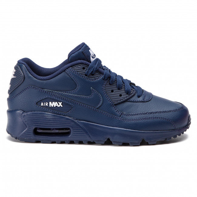 hot sale online 56f45 91b63 Chaussures NIKE - Air Max 90 Ltr (GS) 833412 412 Midnight Navy White