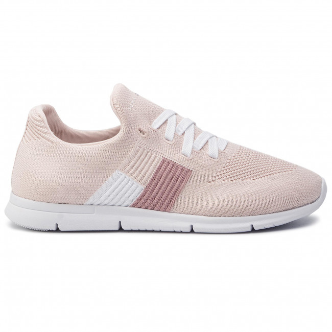 Knitted Fw0fw04144 Hilfiger Flag Peony Silver Sneaker Light Tommy 658 Sneakers TcJ13lFK